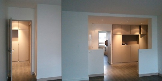 Rénovation d'un appartement F3 à Paris 17
